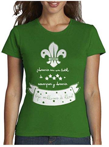 Camiseta mujer con flor de lis