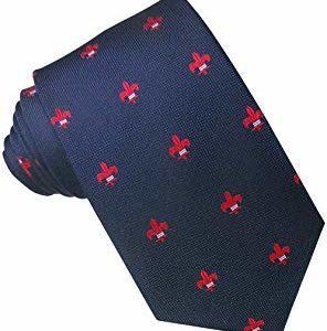 Corbata con la flor de lis