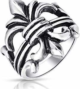 anillo flor de lis religioso